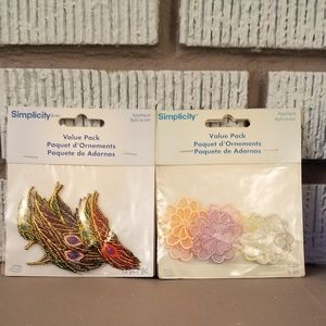 Lot of flower and feather patches